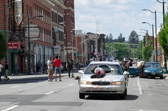 Z Nation filming took place in downtown Spokane during summer 2014. - INLANDER