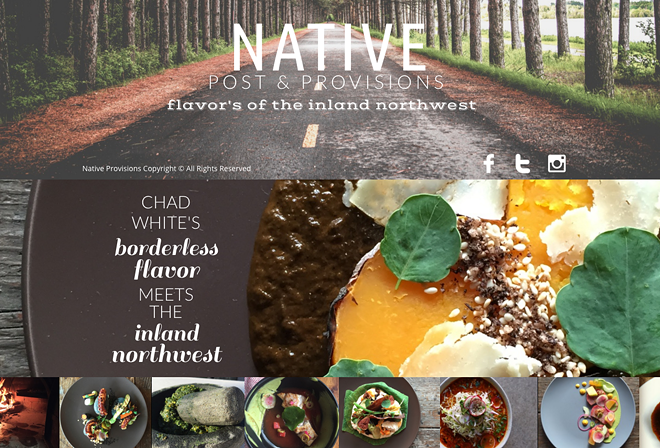 A screenshot of Native Post & Provision's website.