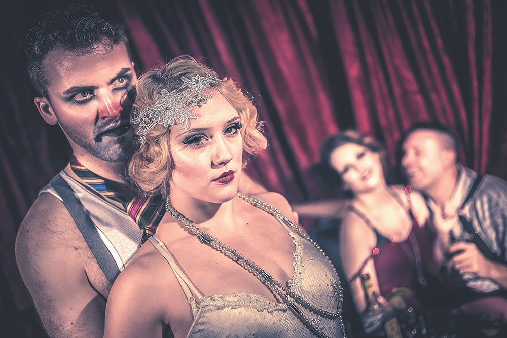 Daniel McKeevers (left) and Quinn Vaira in The Wild Party. - DAN BAUMER