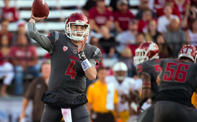 QB Luke Falk was hurt in the Colorado game, and he could miss the Apple Cup game Friday. - WSU ATHLETICS