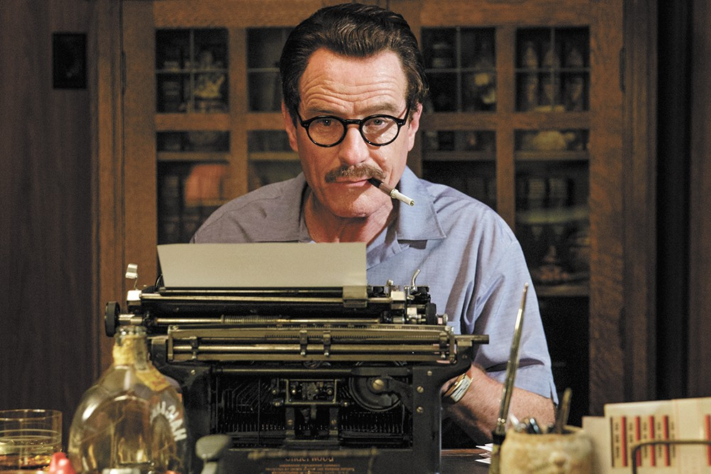 Bryan Cranston as blacklisted screenwriter Dalton Trumbo.
