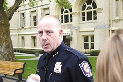 Chief Straub was forced out in September.