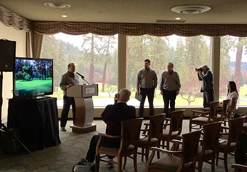 Northern Quest Resort & Casino General Manager Phil Haugen spoke with the media on Thursday regarding the Kalispel Tribe's recent purchase of Spokane Country Club. - MAX CARTER