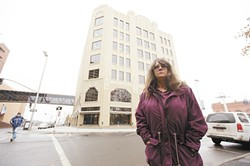 Jackie Murray outside of City Hall.