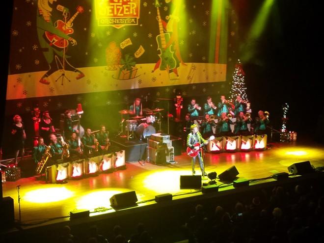 Brian Setzer leading his big band through a post-Christmas rockabilly throwdown. - DAN NAILEN