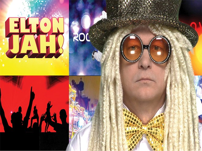 Reggae Rocket Man Elton Jah returns for a New Year's Eve party at the Red Room Lounge.