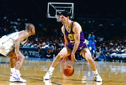 These shorts are baggier than Stockton typically wore during his Hall of Fame NBA career.
