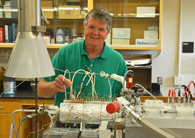 Herb Hill, a professor of chemistry at Washington State University, is helping develop a breathalyzer for marijuana.