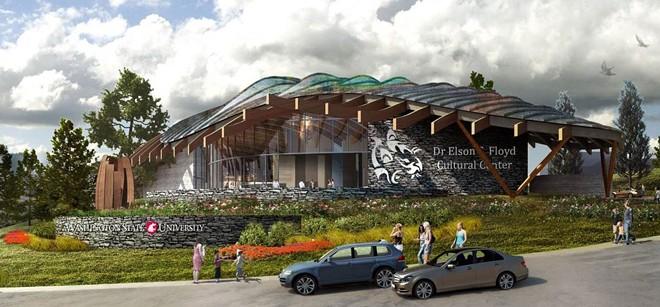 Rendering of WSU's cultural center - WASHINGTON STATE UNIVERSITY