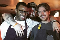 From left: Kwame Onwuachi, Chad White and Phillip Frankland Lee at Ruins