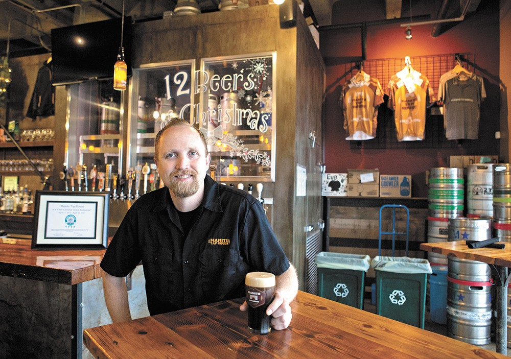Patrick McPherson owns Manito Tap House, the first Four-Star Green Restaurant in the Western U.S. - KRISTEN BLACK