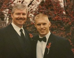 Jeff and Rick Dobrow, on the day of Jeff's wedding in 2004 - COURTESY OF JEFF DOBROW