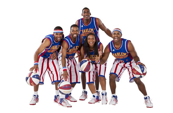 The Harlem Globetrotters hit town on Tuesday.