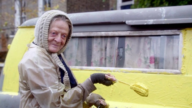 Maggie Smith in The Lady in the Van.