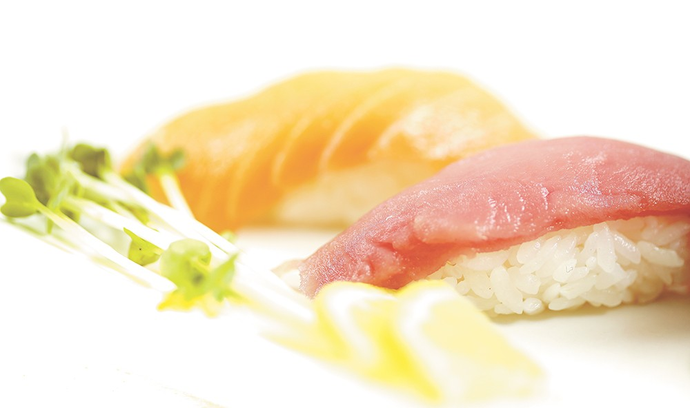 Assorted nigiri sushi from Bonsai Bistro