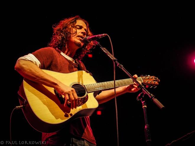 Chris Cornell performs in Spokane on July 20. - PAUL LORKOWSKI