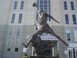 Chicago's favorite hoopster is memorialized outside the United Center.