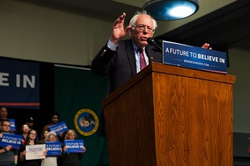 Sanders spoke to a Spokane audience this past Sunday, March 20. - KRISTEN BLACK