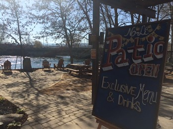No-Li Brewhouse recently added improvements to its patio on the bank of the Spokane River.