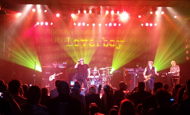 Loverboy in Spokane for a sold-out show Saturday night. - DAN NAILEN