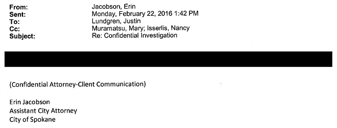 Will independent investigator Kris Cappel be able to see uncensored versions of emails like this one?