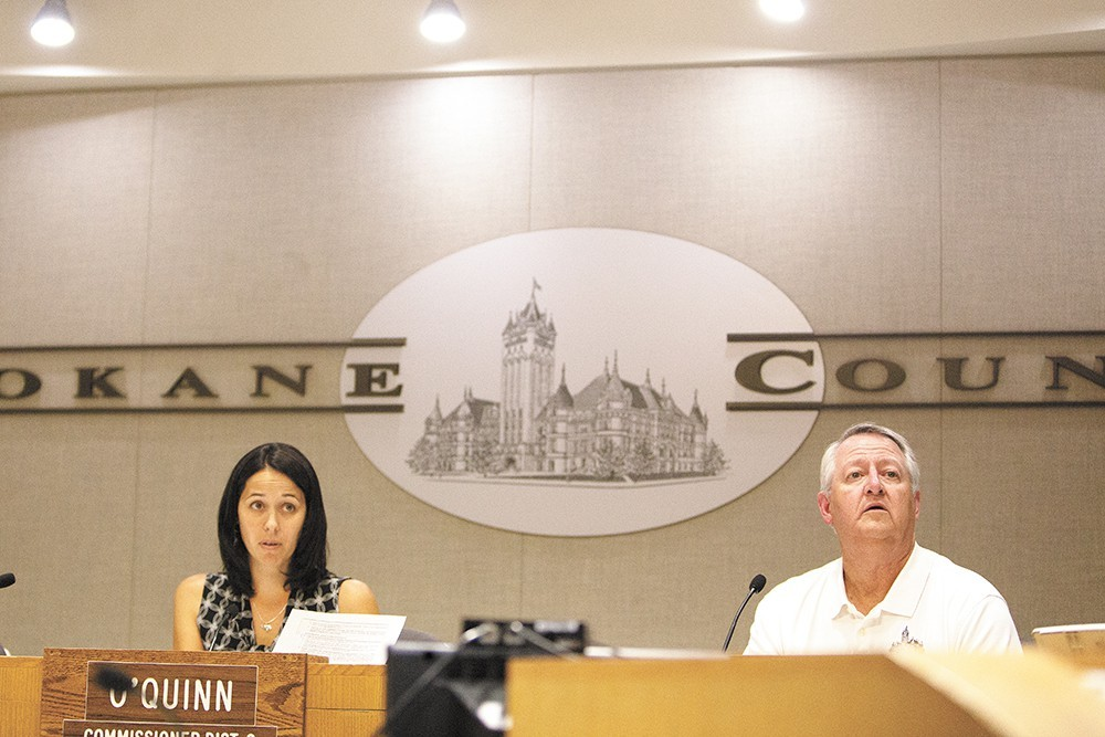 Shelly O'Quinn, left, has a new politician in Andrew Biviano as her opponent for Spokane County Commission.
