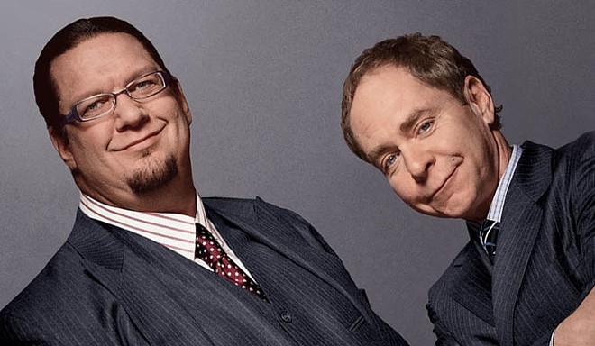 Penn, left, and Teller
