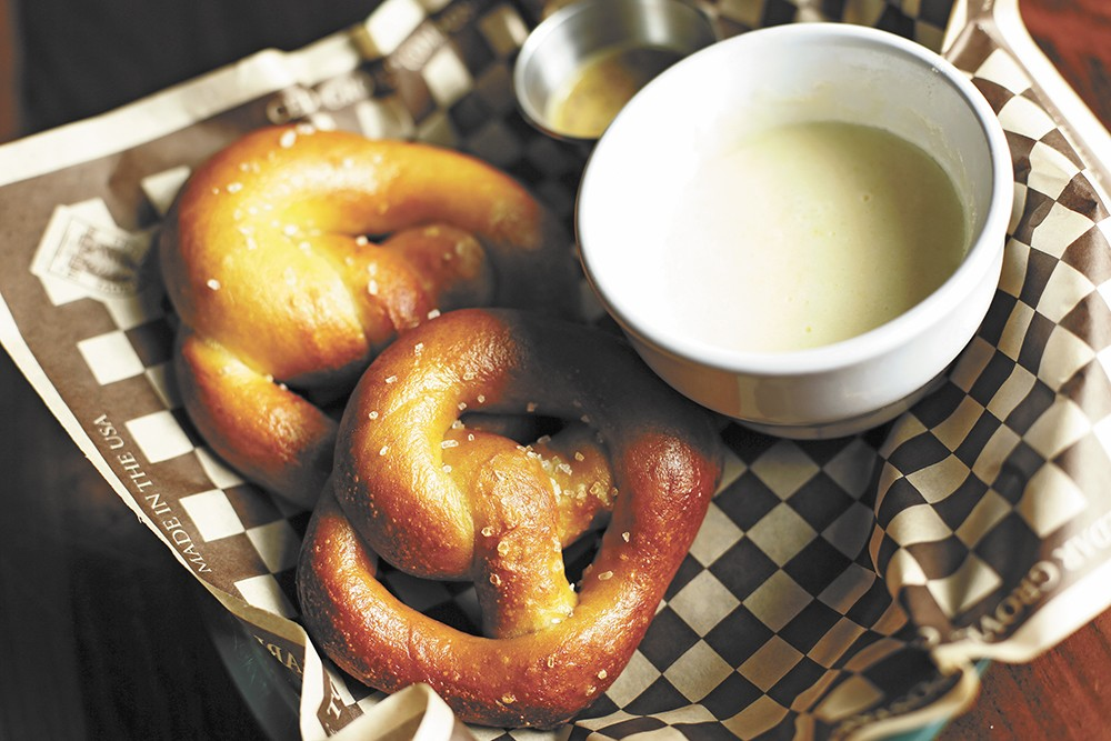 The Saranac Public House is one of the many places in the Inland Northwest that serves a pub pretzel. - YOUNG KWAK