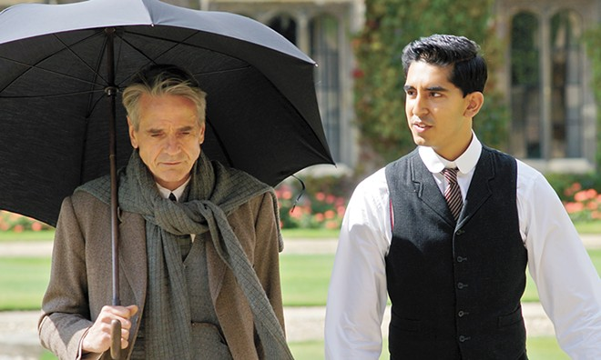 Jeremy Irons (left) and Dev Patel star in this historical drama.