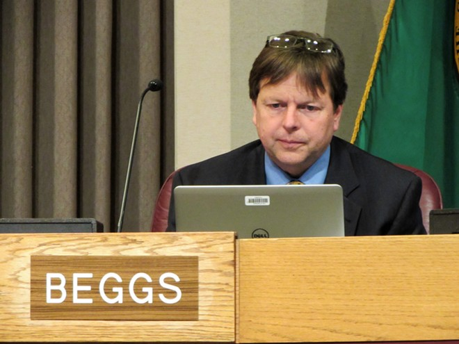 Councilman Breean Beggs says he's been impressed by the diligence of city staff - DANIEL WALTERS PHOTO