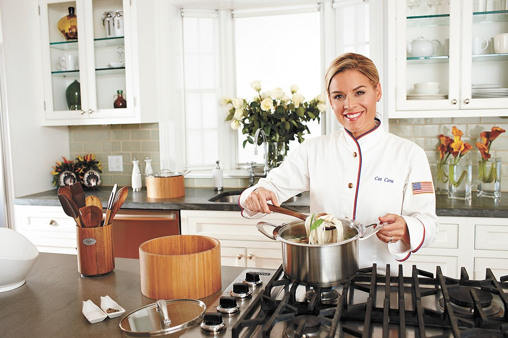 Iron Chef Cat Cora is showing off her culinary skills at Coeur d'Alene Casino.