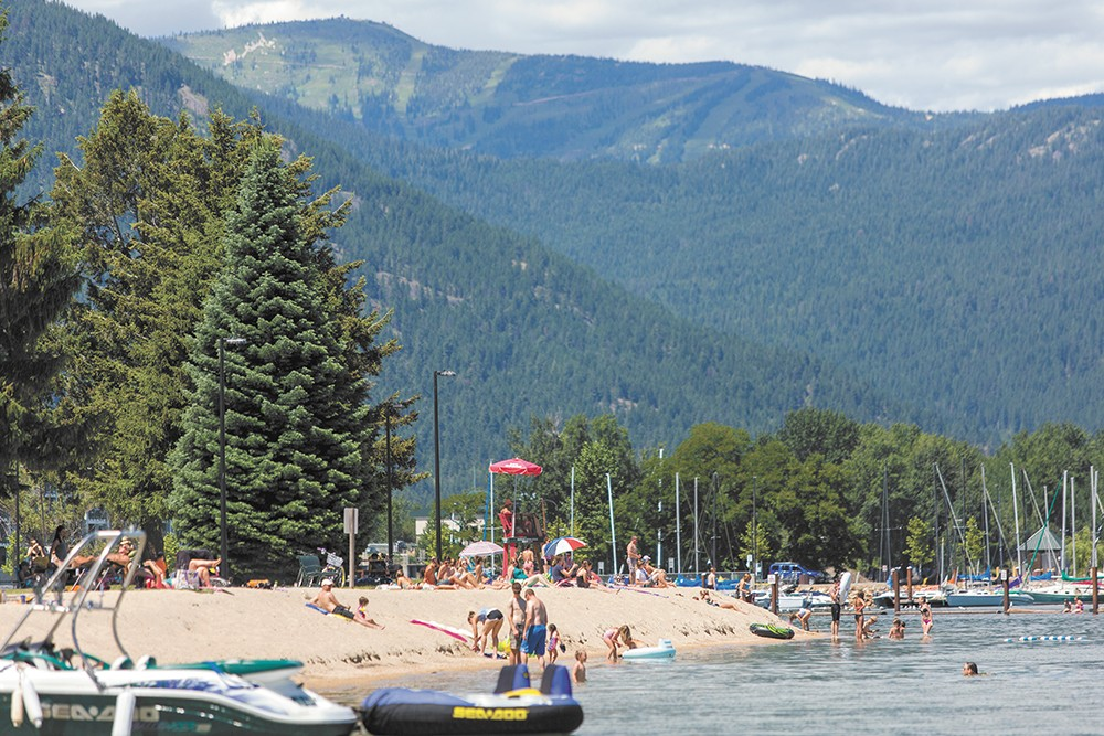 Sandpoint's City Beach gives you access to the water and the town.