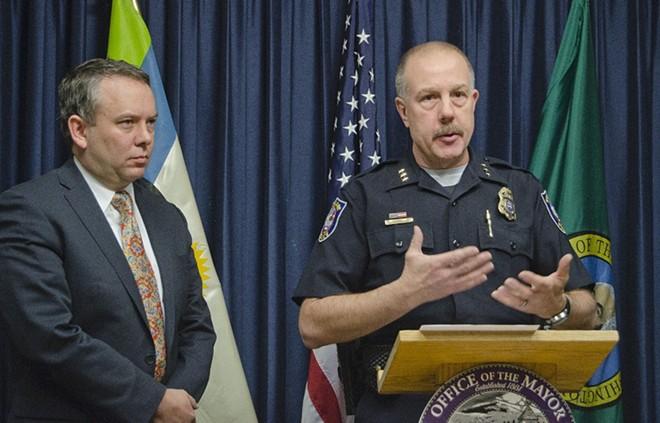 Mayor Condon and former Chief Straub