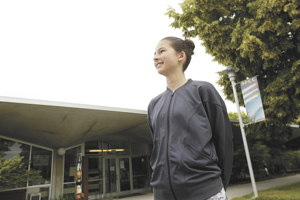 Malika Halvorson, 12, wants to earn a master's degree by the time she turns 21. - YOUNG KWAK