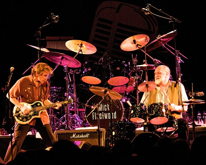 Rick Vito (left) and Mick Fleetwood lead the Mick Fleetwood Blues Band.