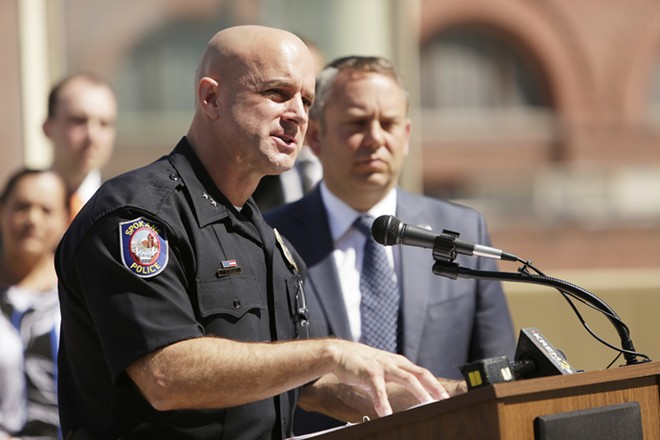 Craig Meidl accepts the appointment as Spokane's chief of police - YOUNG KWAK PHOTO