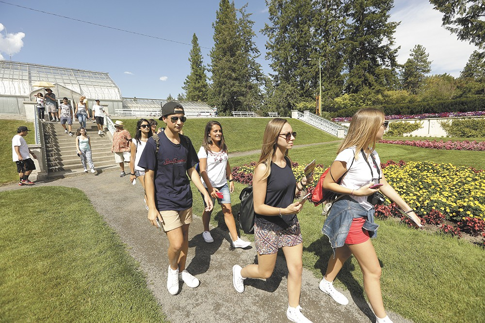 During their 17-day stay in Spokane, high schoolers from Cagli, Italy, visited Manito Park and many other sites. - YOUNG KWAK