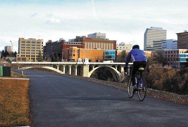 The 60-plus-mile Centennial Trail is a destination for bikers, runners, and more. - CHRIS BOVEY