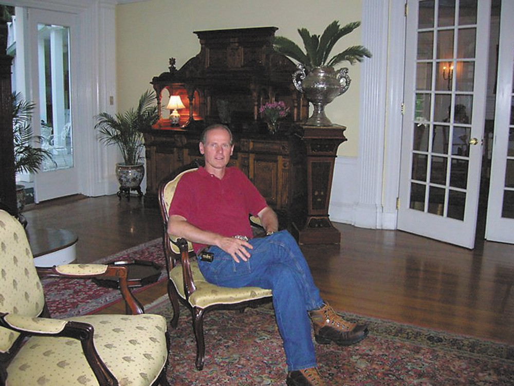 Rafael Beier, a rural physician and father of nine, reclines in a chair during happier times.