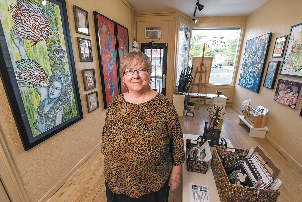 Gallery owner and artist Kay West hopes the presence of Little Dog helps boost the local arts scene. - ERICK DOXEY