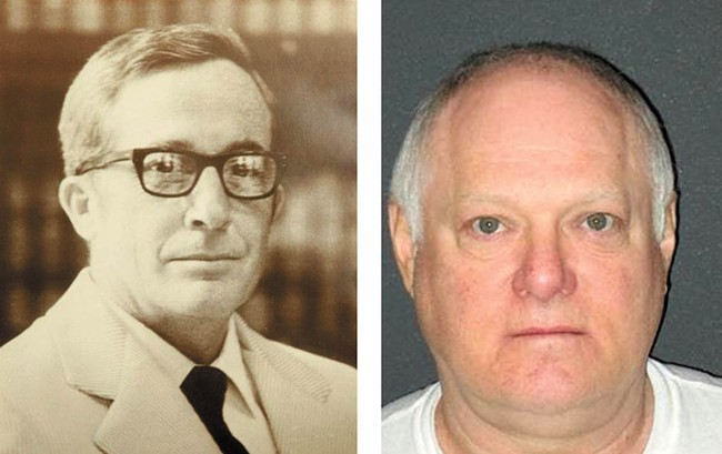 Judge James L. Lawless (left) and the man convicted of his 1974 murder, Ricky Anthony Young
