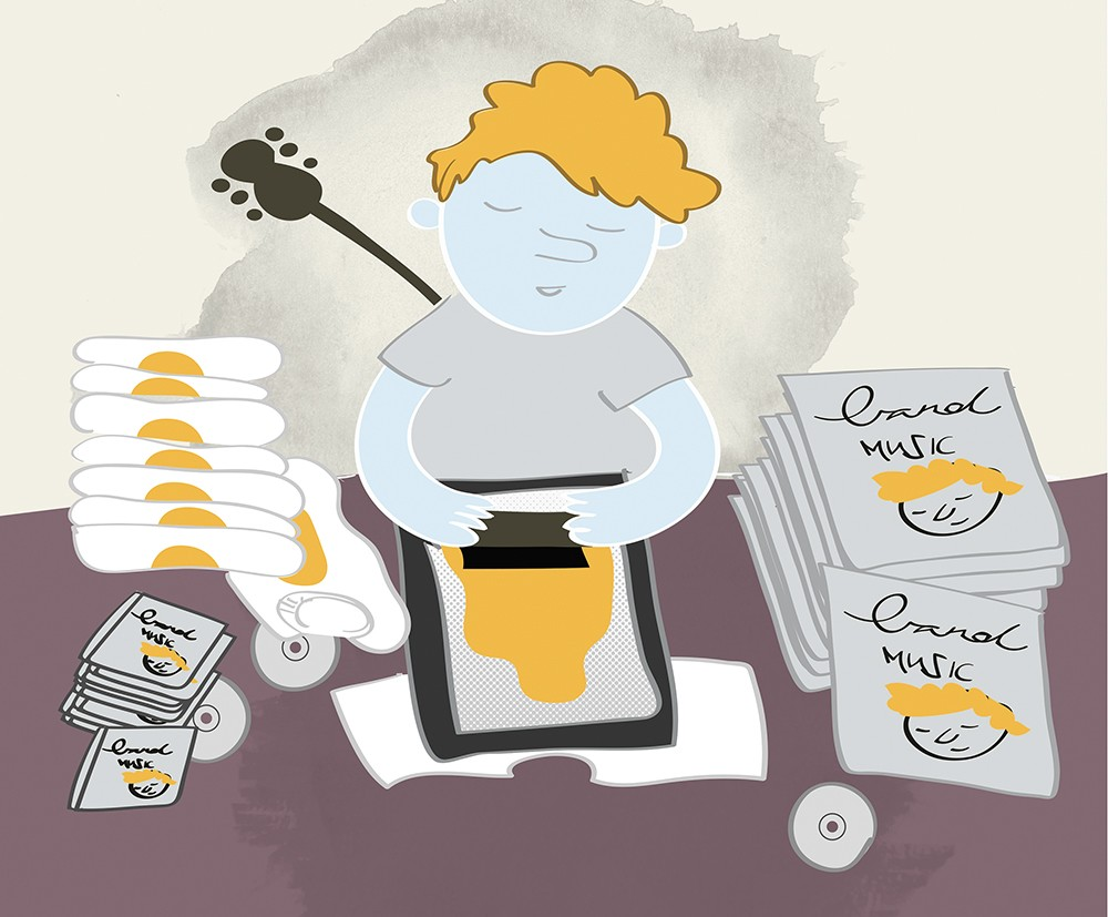 Many local bands take the DIY approach to marketing and merchandising their music. - JESSIE HYNES ILLUSTRATION