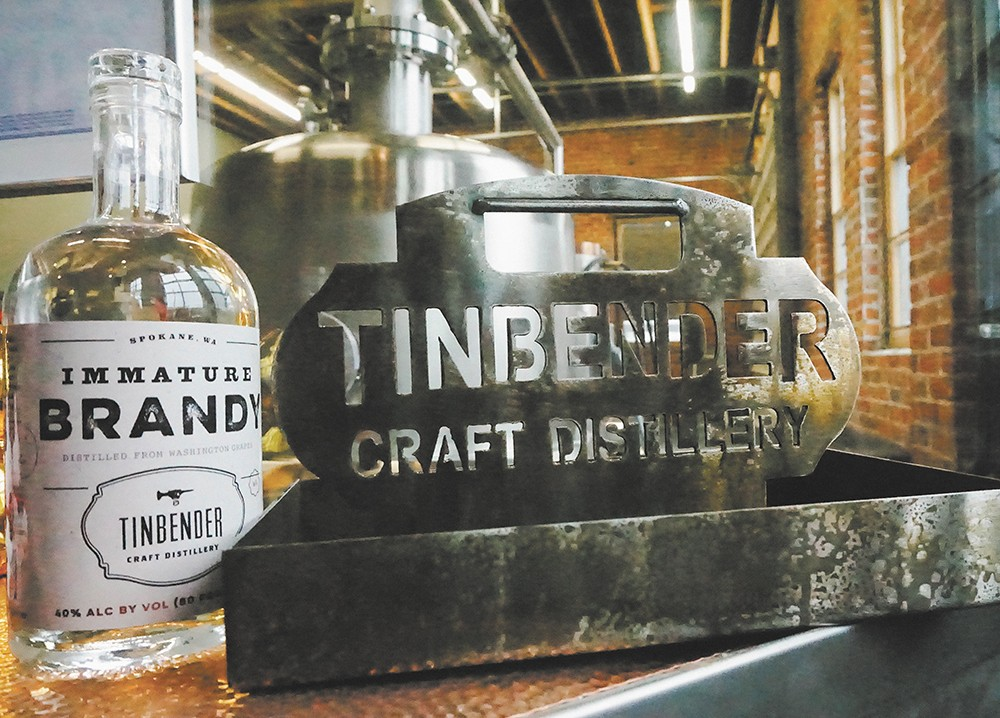 "Tinbender specializes in ""immature"" white whiskey."