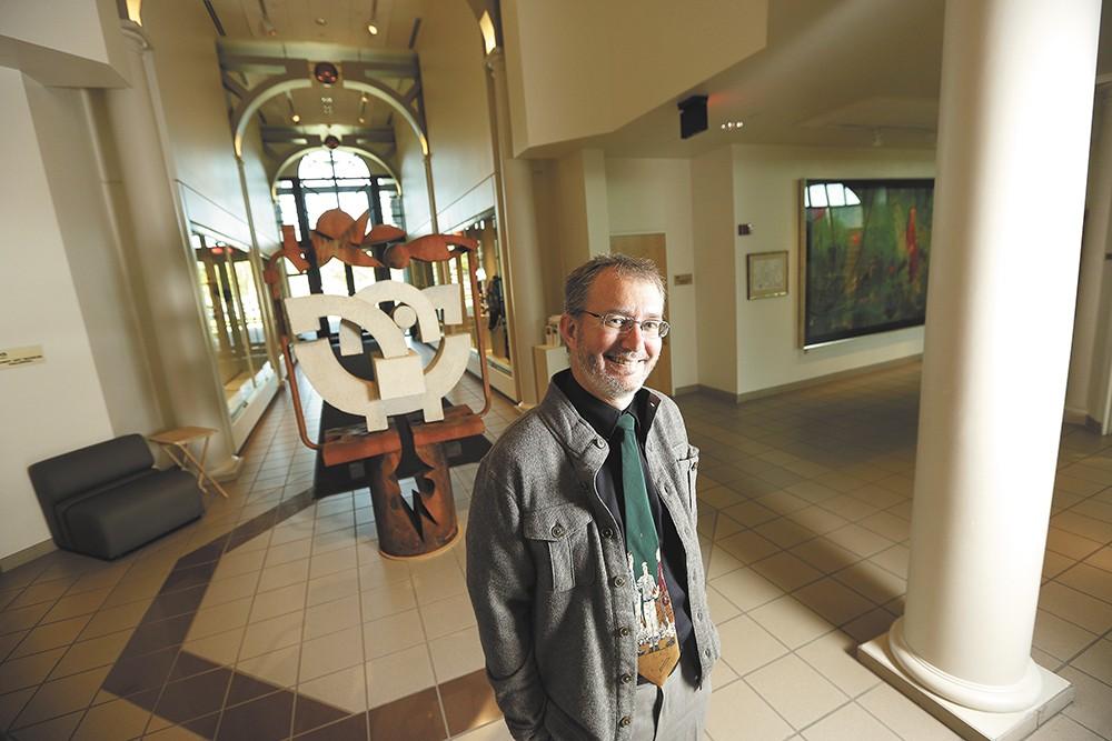 Jundt Art Museum Curator Paul Manoguerra at Gonzaga University. - YOUNG KWAK