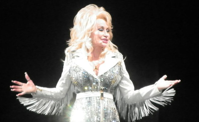 Dolly Parton took to the Northern Quest stage last night for a sold out show. She told the audience they aren't real — her nails that is. - DAN NAILEN