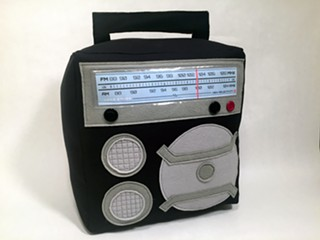 The quirky Burgleteens studio makes fun, handmade accessories like this retro radio throw pillow. - BURGLETEENS.COM