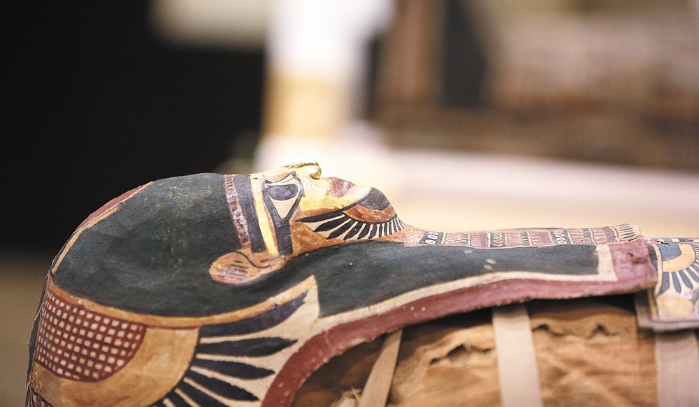 """The mummy of a teenage girl, known as Annie and who lived approximately 2,300 years ago, is the centerpiece of """"Lost Egypt."""" - YOUNG KWAK"""