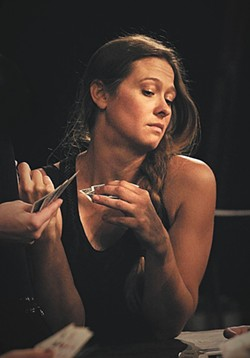 Sarah Miller plays Mona in the Modern's production of Chicago.