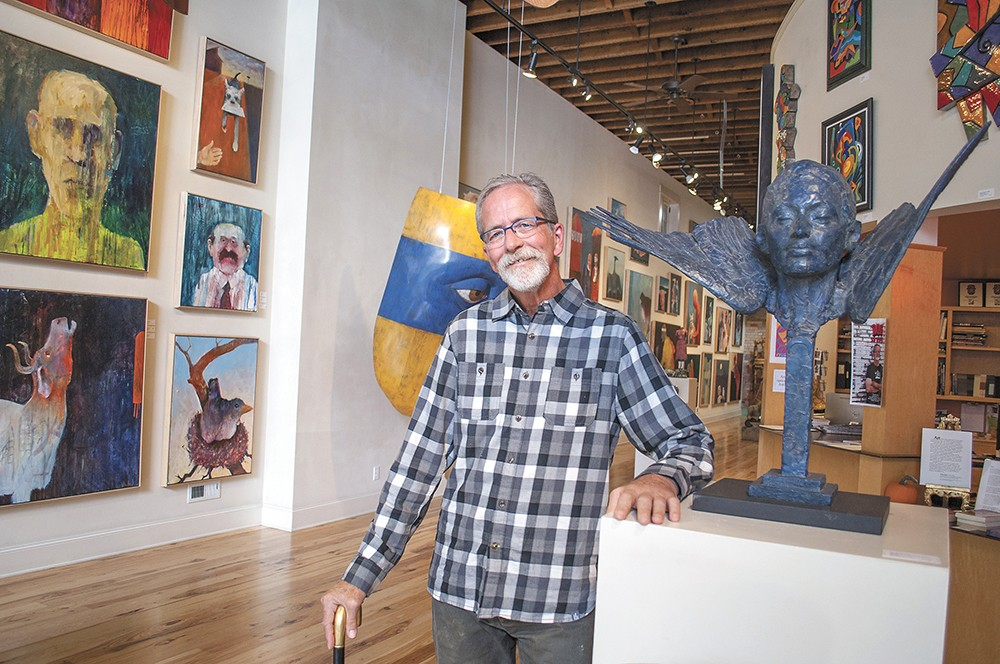 Steve Gibbs inside the Art Spirit Gallery, which he helped found in 1997. - SARAH PHILP