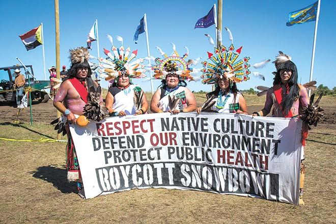 Members of the Hopi tribe join the fight in North Dakota. - JEFF FERGUSON